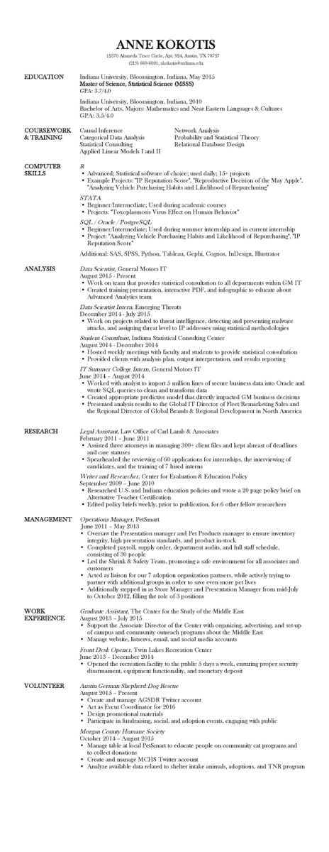 statistician ms degree