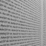 List of names on a Holocaust Memorial