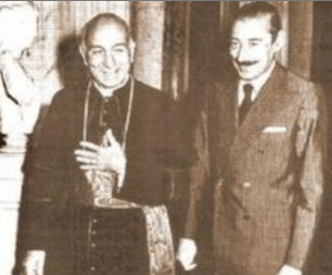 Bergoglio & Videla (head of the Junta)