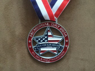 Run For Our Heroes, race medal (closeup)