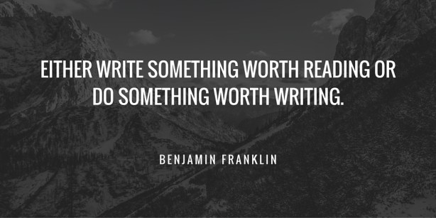 Benjamin Franklin Writing Quote