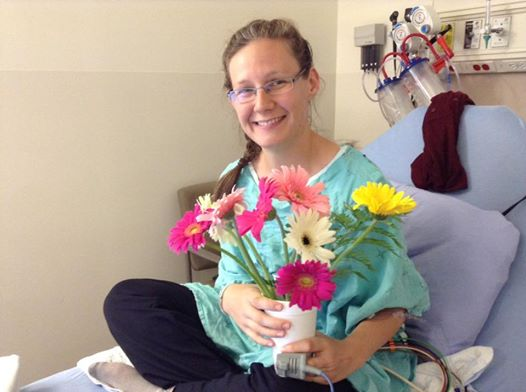 Rachel in Hospital