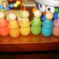 rainbow peg people montessori toys
