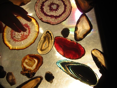 agate slices, nature, light, ohp