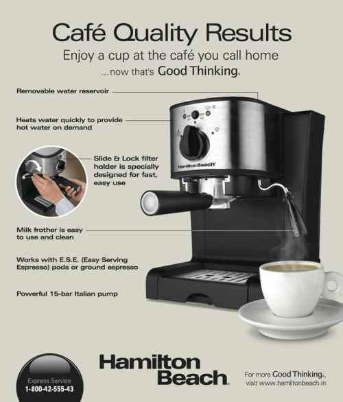 Hamilton Beach Espresso and Cappuccino Maker