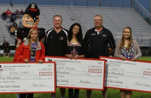 2014 Racine Raiders scholarship recipients