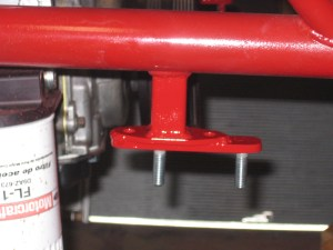 Frame mount for the front bar was moved forward a bit to clear the front engine pulley.
