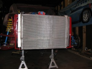 Front of radiator is covered with 1/4 SS Mesh for protection.