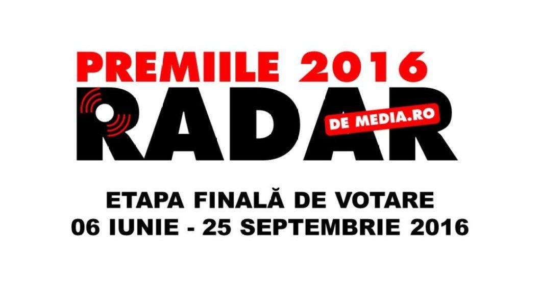 ETAPA FINALA DE VOTARE - PREMIILE RADAR DE MEDIA 2016