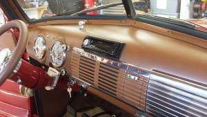 Pioneer Head Unit installed in classic truck