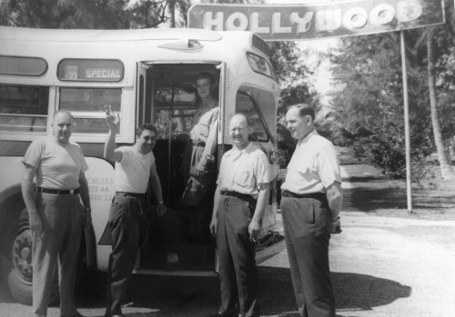 Cimillo with bus in Hollywood