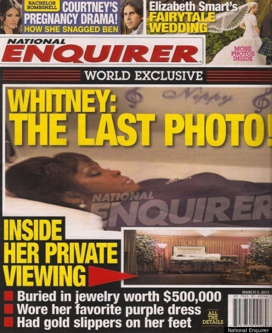 whitney in casket