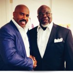 bishop td jakes steve harvey show450 150x150 Jennifer Hudson, Steve Harvey, Vickie Winans, Brandy, Tamar Braxton, Anthony Mackie, Kierra Sheard Join Lineup For MegaFest