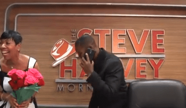 Screen Shot 2014 07 28 at 9.04.31 PM Shirley Strawberrys Surprise Marriage Proposal Live On The Steve Harvey Morning Show