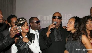 Tyrese Gibson, Keith Washington Janelle Monáe, Johnny Gill, Stevie Wonder, Chante Moore, Kym Whitley and Terry Crews perform at Stevie Wonder's 65TH Surprise Birthday Celebration
