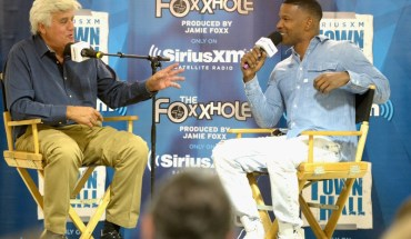 Jay Leno Goes One-on-One with Jamie Foxx for In-Depth Q&A Session as Part of SiriusXM's Town Hall Series (PRNewsFoto/Sirius XM Holdings Inc.)