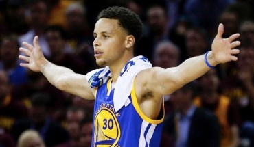 CLEVELAND, OH - JUNE 16:  Stephen Curry #30 of the Golden State Warriors reacts during Game Six of the 2015 NBA Finals against the Cleveland Cavaliers at Quicken Loans Arena on June 16, 2015 in Cleveland, Ohio. NOTE TO USER: User expressly acknowledges and agrees that, by downloading and or using this photograph, user is consenting to the terms and conditions of Getty Images License Agreement.  (Photo by Ezra Shaw/Getty Images)