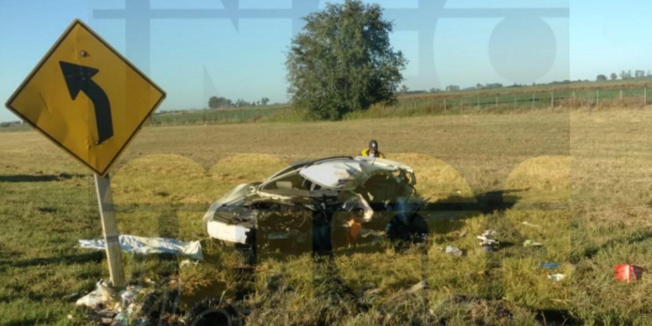 Un conductor murió tras un impactante choque