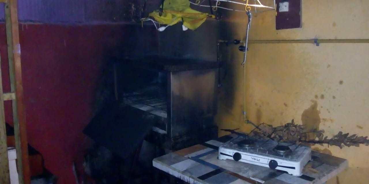 Incendio en un horno pizzero