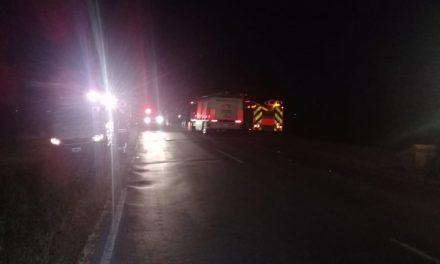 Camión que transportaba producto tóxico derramó su líquido sobre la Ruta 9