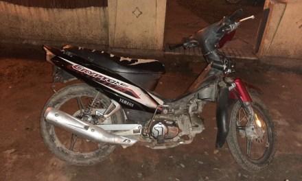 Encontraron una moto denunciada por robo