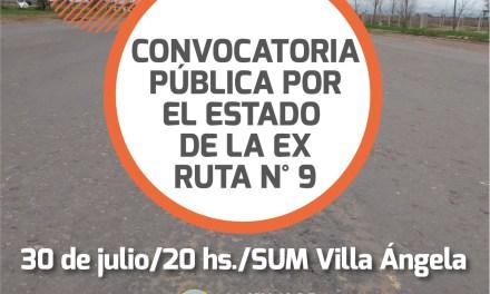 Se realiza una nueva convocatoria pública por el estado de la Ex Ruta N° 9