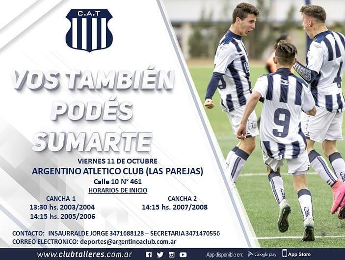Talleres de Córdoba prueba jugadores en Argentino