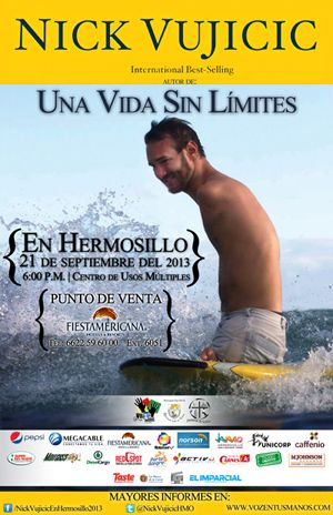 Nick Vujicic en Hermosillo
