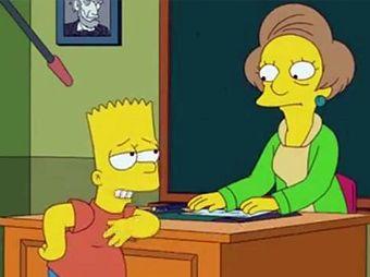 """Saldrá personaje de """"Maestra Krabappel"""" de Los Simpsons"""