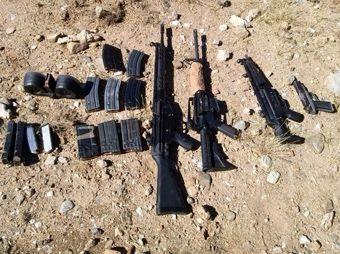 PESP y Ejército localizan arsenal en Imuris, Sonora