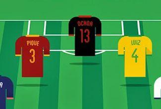 Guillermo Ochoa en el 11 de ideal del Mundial según Google