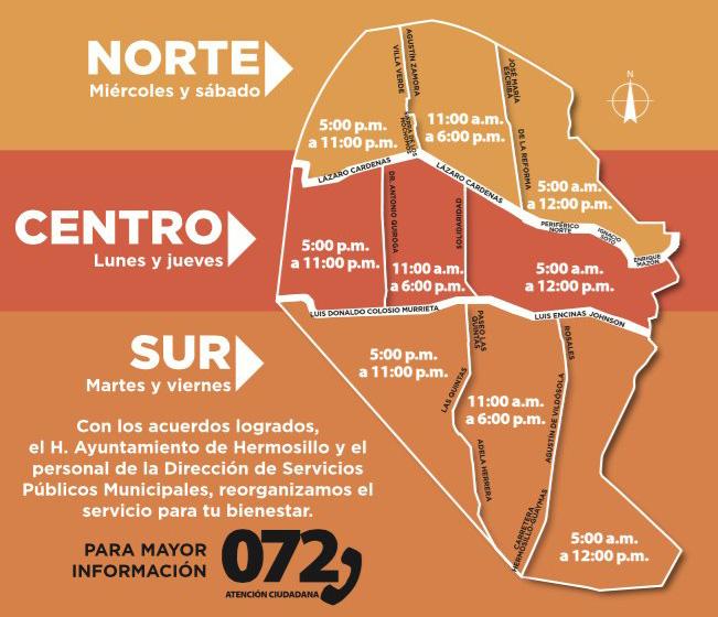 Recolección de basura en Hermosillo