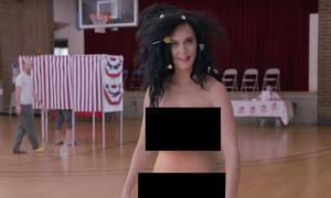 Vídeo: Katy Perry desnuda invitar a votar en las próximas elecciones