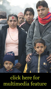 Bhutanese Refugees leaving Nepal.  Source: Correspondent Adelaide Chen