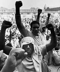 The Attica Rebellion. Source: The Freedom Archives