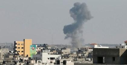 FOTO-Cohete israeli en Gaza hoy