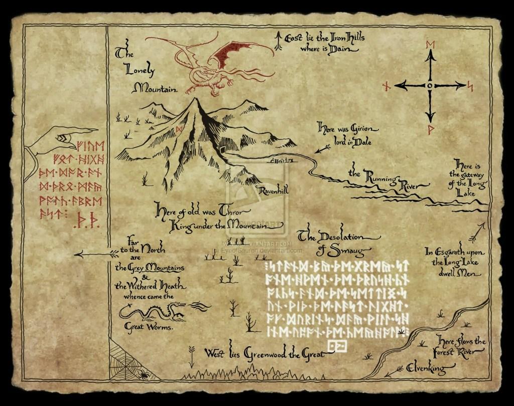 Montagna Solitaria Mappa del tesoro di Thorin Scudodiquercia