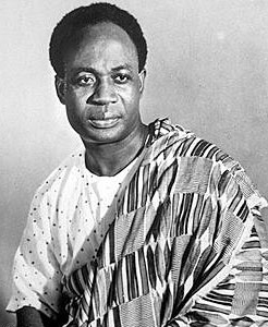 Dr. Kwame Nkrumah, the first President of the Republic of Ghana