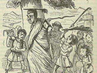 500px-Comic_History_of_Rome_p_088_Shool-boys_flogging_the_School-master