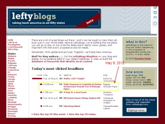 LeftyBlogs Top Post 5-9-2012 Featured