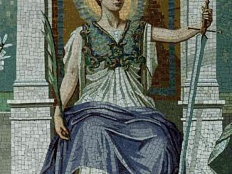 A_mosaic_-LAW-_by_Frederick_Dielman,_1847-1935