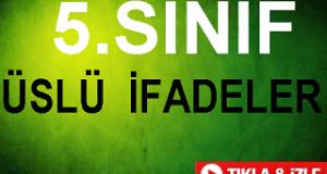 5.SINIF Üslü Sayılar