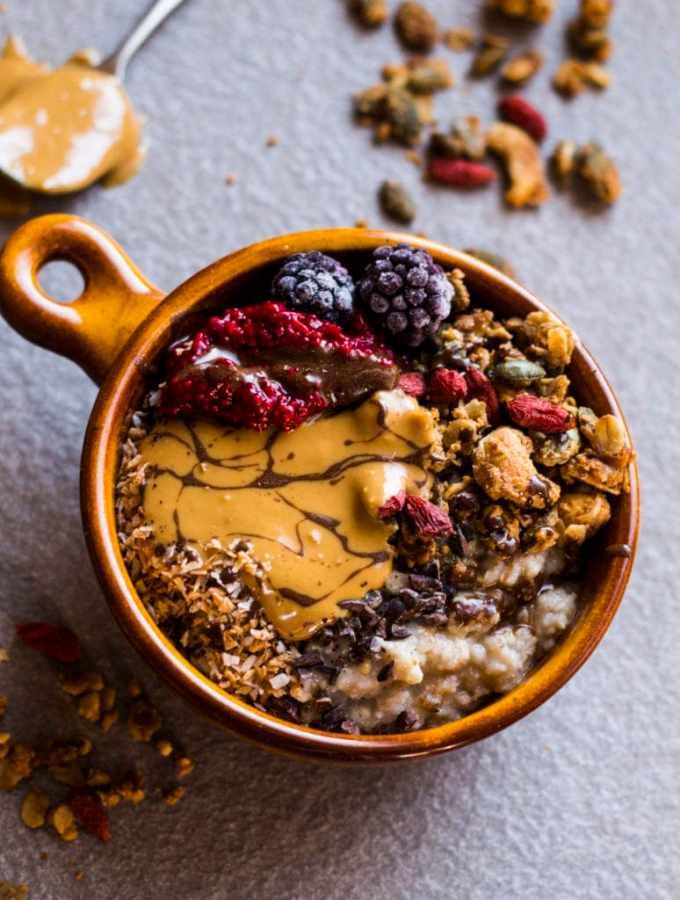 PB&J porridge oats 1