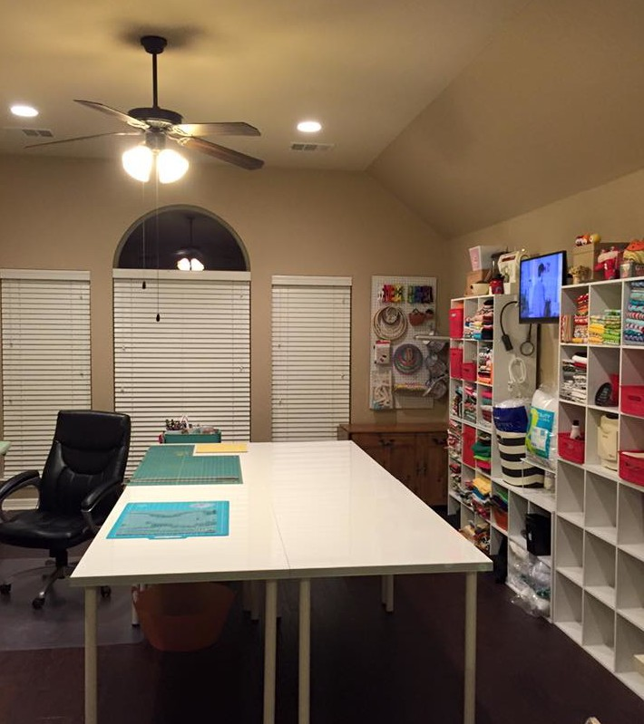 sewing studio craft room