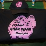 WDC Pink Elephant Gnar Wash embroidered hat and screen printed t-shirt