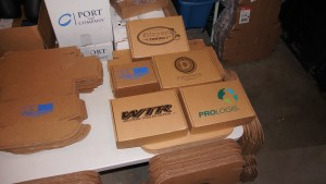 Screen printed cardboard flatstock for a variety of companies.