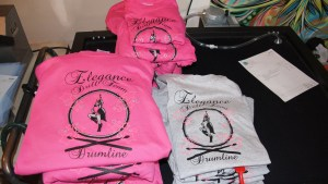 Screen printed t-shirts for Elegance Drillteam