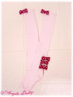 Triple Dot Ribbon OTKs - red x pink