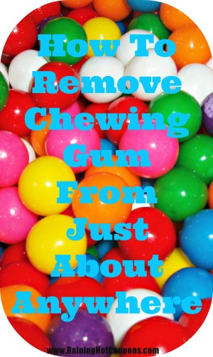 how to remove chewing gum