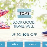 *HOT* TOMS Shoes HUGE Sale is LIVE! Up to 40% Off